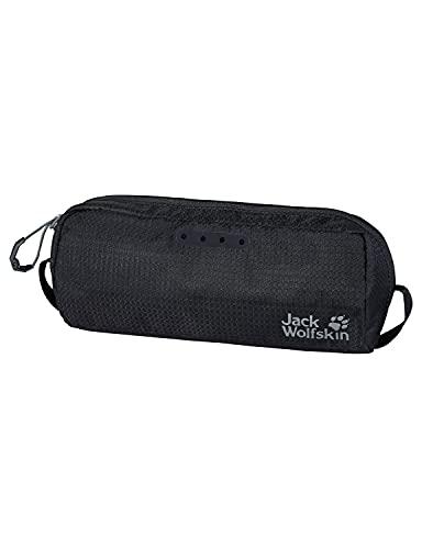 Jack Wolfskin WASHBAG AIR - Beauty case capiente, taglia unica, colore: Nero