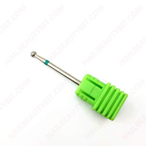 NBB 1 set di punte diamantate per chiodi, gambo da 2,35 mm, punte diverse con spazzola, punta manicure con rivestimento diamantato al 100%, punta di bellezza per macchina (Sfera 3.0mm)