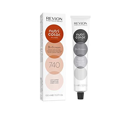 REVLON PROFESSIONAL Nutri Color Filters Maschera Colorata Capelli, Protettiva, Istantanea e Multidimensionale, Rame Chiaro - 100 ml