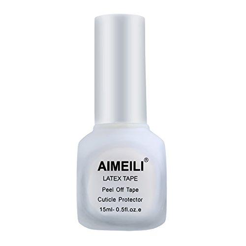 AIMEILI Liquid Latex Tape Peel Off Unghie Lattice Peel Off Gel Smalto Rimovibile Pellicola Antisbavature per Nail Art Stamping Protezione delle Dita e Pelle per Nail Art 15 ml