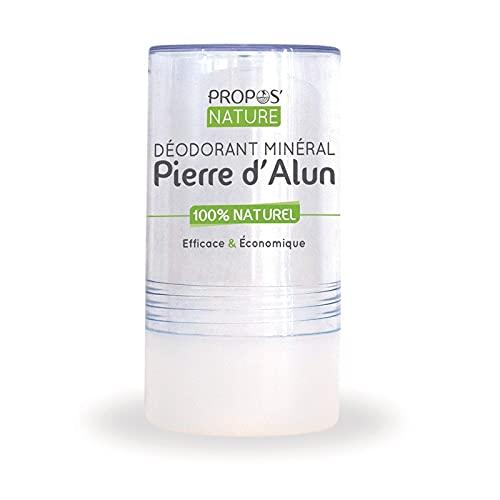 PROPOS'NATURE - Deodorante minerale pietra di allume bio, 120 g