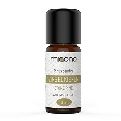 Olio essenziale di pino cembro – 100% puro olio essenziale (10 ml) di miaono (bottiglia di vetro).