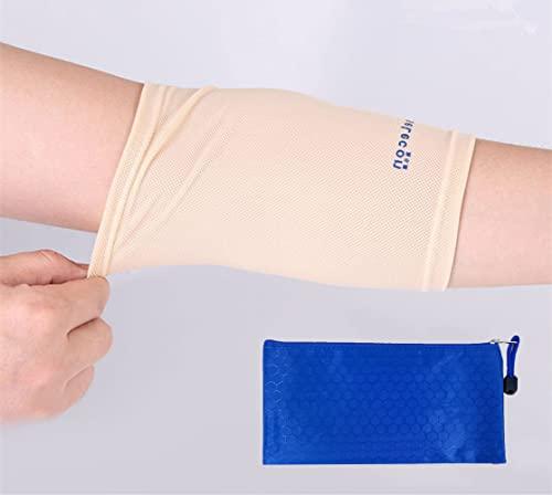 Protezione per porta PICC per il braccio, manica di protezione infermieristica per adulti e bambini (peso indicativo: 40-95 kg), Traspirante, ultra morbida, beige.