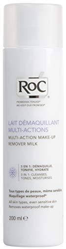 RoC - Struccante per il trucco del latte 3 in 1 - Deterge, tonifica e idrata - Tutti i tipi di pelle - Rimuove il trucco waterproof - 400 ml