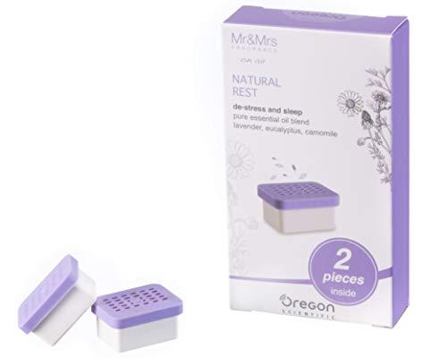 Oregon Scientific RM661 Capsule Profumate del Pregiato Marchio Mr&Mrs Fragrance per Senses Aroma Orologio con Musicoterapia, Natural Rest