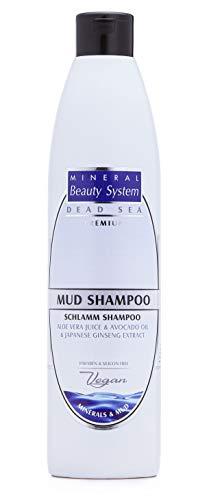 Mineral Beauty System Shampoo al Fango del Mar Morto – 500 ml Per Tutti i Tipi di Capelli, Adatto a Cuoio Capelluto Sensibile, Capelli Danneggiati e Normali – Azione Antiforfora, Anticaduta
