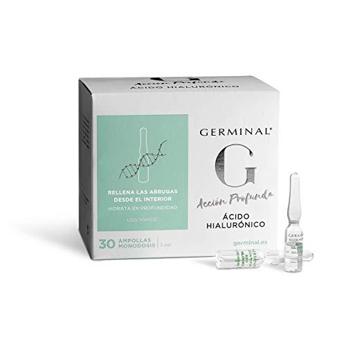 Germinal Azione Profonda Acido Ialuronico - Siero in Fiale per Viso con Acido Ialuronico Concentrato Effetto Idratante, Antirughe e Antietà per Uomo e Donna - 30 Fiale x 1 ml
