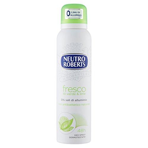 NEUTRO ROBERTS Deodorante Fresco Tè Verde e Lime Spray - 150 ml