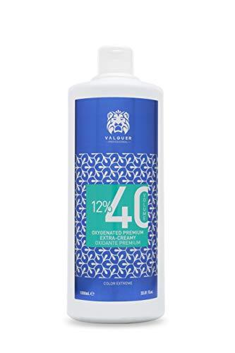 Professionale Valquer Premium ossigenato ultra cremoso 40 Vol (12%). Acqua ossigenata per tinture. Colorazione permanente dei capelli - 1000 ml