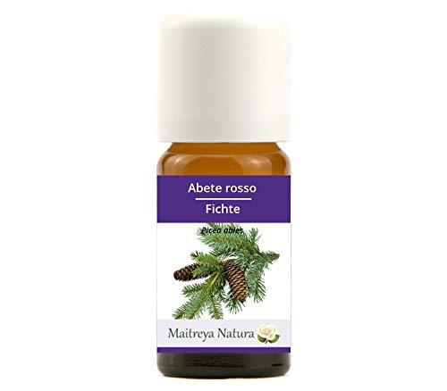 Maitreya Natura Olio Essenziale biologico ABETE ROSSO 100% puro e naturale, 10ml - aromaterapia, diffusore, massaggio, cosmetica - qualità controllata e certificata, vegan