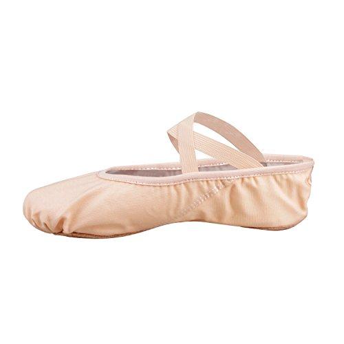 Bezioner-Shop Nero e Rosa Chiaro Balletto Scarpe di Tela Split Pantofole Sole di Danza (VI Consigliamo di Scegliere Una Taglia più Grande la Dimensione Normale di Scarpe) (28, Rosa)