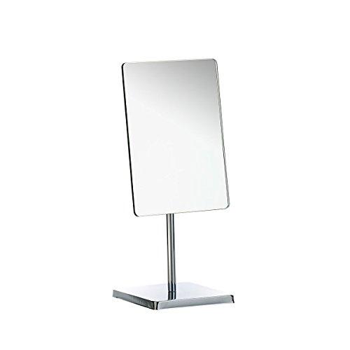 Axentia Specchio da Tavolo Rettangolare angolo regolabile con base cromata, 21 x 22 x 9 cm, Argento