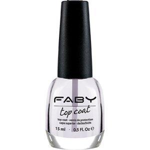 FABY NAILS - Top Coat - Ideale per Smalto Lunga Durata - Finish Brillante - Protegge lo Smalto - Effetto Anti-giallo - Performance Professionale - 15 ml