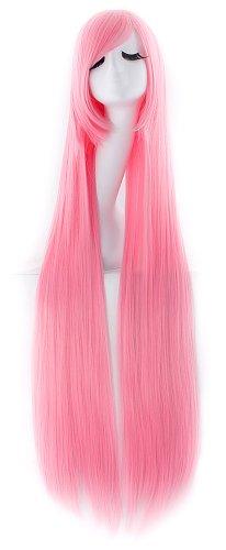 MapofBeauty 100cm/ 39 Pollice Medio Lisci Donna Lisci Parrucche (Leggero Rosa)