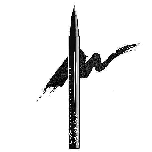 NYX PROFESSIONAL MAKEUP Eyeliner Epic Ink Liner, Applicatore a Pennellino, Formula Pigmentata, Waterproof, Nero, Confezione da 1