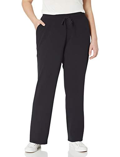 Amazon Essentials Plus Size French Terry Fleece Sweatpant Pantaloni della Tuta, Nero, XXL