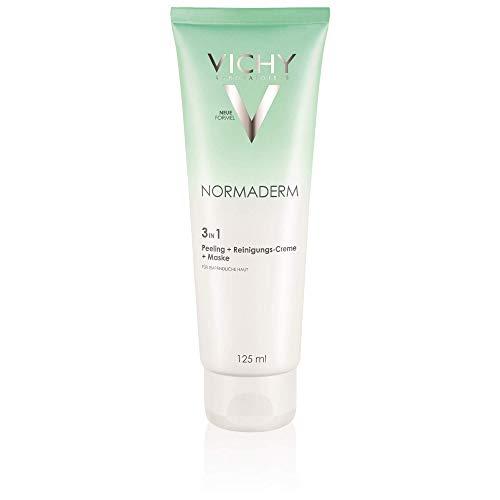 Vichy - Normaderm 3 in 1 peeling + crema detergente + maschera, 125 ml