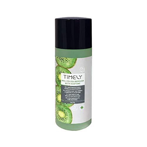 Timely, solvente per unghie a base di acetone, ad azione rapida, al profumo di kiwi, 100 ml