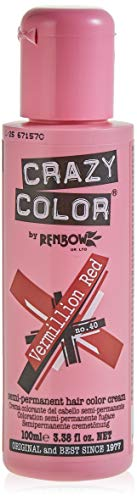 Renbow Crazy Color Crema Colorante Vegetale per Capelli , Vermillion Red - 100 ml