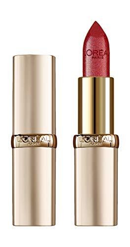L'Oréal Paris Make Up Rossetto Lunga Durata Color Riche, Colore Pieno, Finish Satinato, 345 Cherry Crystal, Confezione da 1