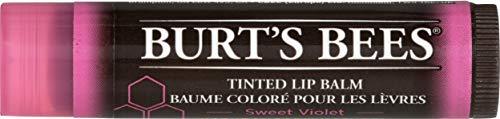 Burt's Bees, Balsamo labbra colorato, 100% naturale, Sweet Violet, 4,25 g