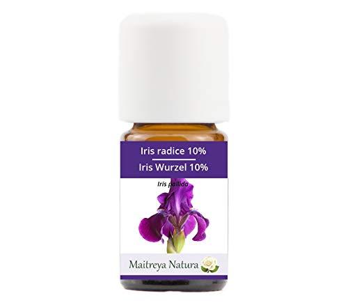 Maitreya Natura Olio Essenziale biologico IRIS 10% IN OLIO DI JOJOBA 100% puro e naturale, 5ml - aromaterapia, diffusore, massaggio, cosmetica - qualità controllata e certificata, vegan