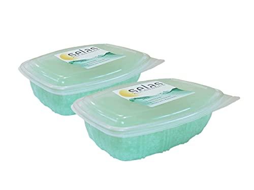 Paraffina all'aloe vera confezione da 2500 ml (980 g x 2 unità), per trattamenti terapeutici ed estetici di mani e piedi.