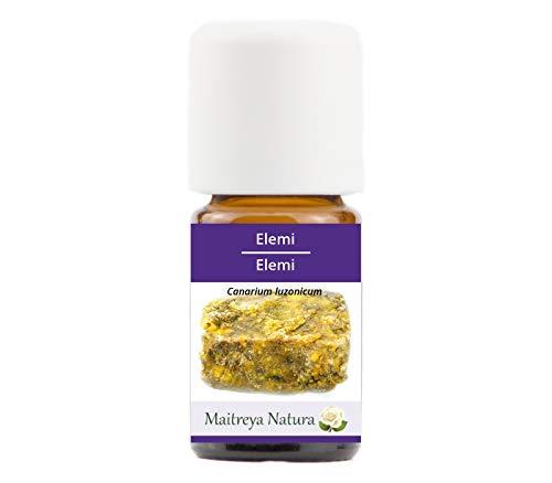 Maitreya Natura Olio Essenziale ELEMI, 100% puro e naturale, 5ml - aromaterapia, diffusore, massaggio, cosmetica - qualità controllata e certificata, vegan