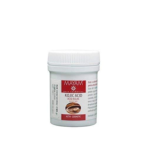Acido Cogico in polvere, 25 g. sbiancante, illuminante, anti invecchiamento del viso, anti melasma. L'acido cogico può essere aggiunto a preparati contenenti acqua e creme, lozioni, toner