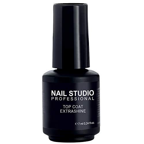 Nail Studio - Top Coat Extra Shine - Top Coat Per Smalto Semipermanente Con Finish Extra Brillante - Formato 7 ml