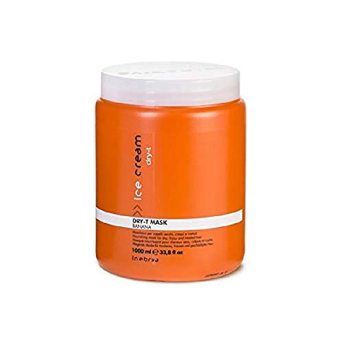 Inebrya Dry-T, Maschera nutriente per capelli secchi, crespi e trattati, 1000 ml, 1 pz.