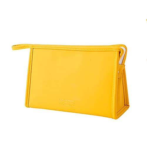 Borsa per Il Trucco Impermeabile di Grande capacità, Borsa per Cosmetici da Viaggio Portatile, Custodia Multifunzione per Organizer per Cerniere di Bellezza,24 * 8 * 14cm,Yellow