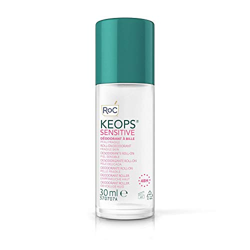 RoC - KEOPS Roll-On Deodorante Pelle Sensibile - Antitraspirante - Efficacia 48 Ore - Senza Alcolici e Senza Profumo - 30 ml