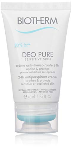 Biotherm Pure Sensitive Deodorante Crema, Donna, 40 ml