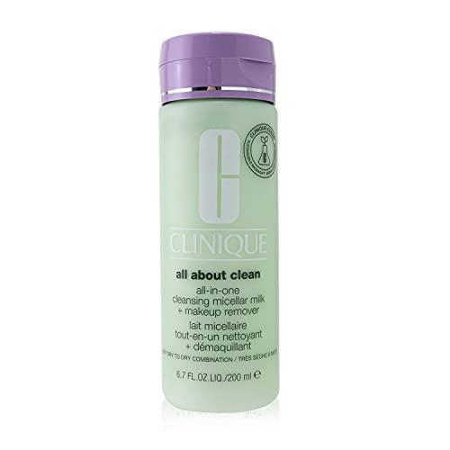 Clinique All About Clean Latte Micellare e Struccante Tutto-in-Uno, Skin Type 1, 200 ml