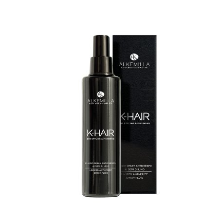 ALKEMILLA - K-Hair - Fluido Spray Anticrespo ai Semi di Lino - Formula Leggera per Capelli Morbidi e Idratati - Vegan, AIAB, Nickel Tested - 100 ML