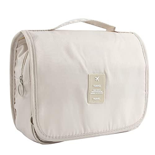 Discoball Lady Women Large Capacity Cosmetic Makeup Toiletry Travel Wash Bag Holder Mirror Case Organizer (blu navy)