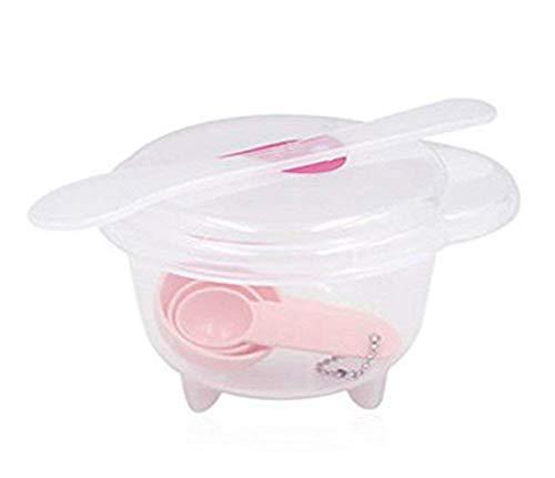 Maschera ciotola- 5in 1Homemade strumento cosmetico facciale cura della pelle maschera Bowl gauge stick Facemask ciotola set di utensili per signora donne e ragazze (rosa)
