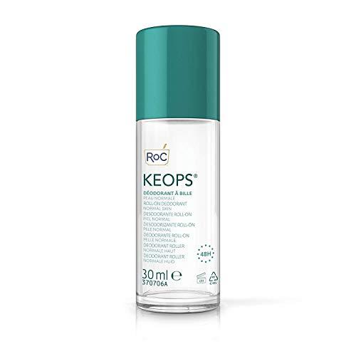RoC - KEOPS Roll-on Deodorant Pelle Normale - Antitraspirante - Efficacia 48 ore - Senza Alcool e Senza Profumo - 30 ml