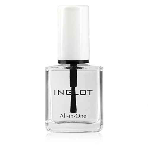 Inglot Smalto opaco All-in-One Top Coat | garantisce una finitura lucida e protegge le unghie dallo sbiadimento/finitura lucida, lunga durata.