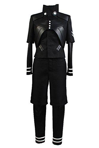 Uomo Halloween Anime Cosplay Costume Uniforme da Combattimento Fantasma Nero Set Completo, M