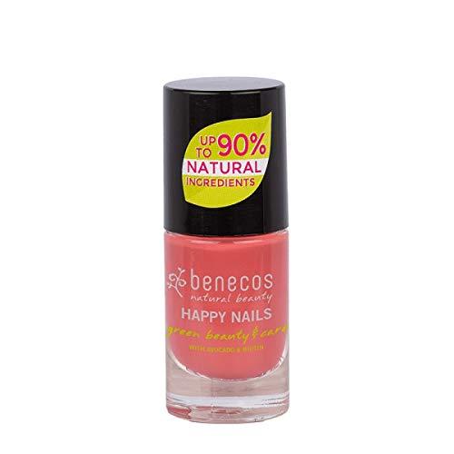 BENECOS - Smalto Rosso Corallo - Delicato - Biotina e Avocado - Senza formaldeidi dannosi o colofonia - Senza toluene, ftalati e canfora - Vegan - 9ml