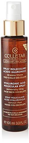 Collistar Attivi Puri Spray Molecolare Acido Ialuronico, Spray idratante liftante per viso, collo e décolleté, Contrasta le rughe e rinfresca il make-up, Per tutti i tipi di pelle, 100 ml