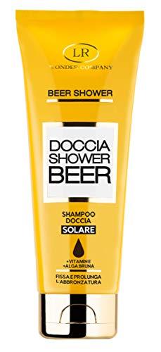 BEER SHOWER, shampoo doccia solare, fissa e prolunga l'abbronzatura, deterge e protegge corpo e capelli con Vitamina E e Alga Bruna, 250ml LR Wonder Company