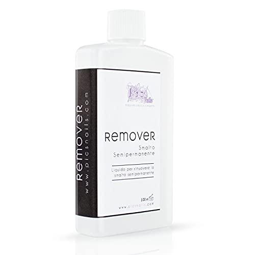 Remover Smalto Semipermanente Acetone Puro 100 ml Professionale- Rimuovi Smalto Semipermanente Soak Off UV-LED per Unghie - Solvente Rimuovi Smalto semipermanente per Unghie
