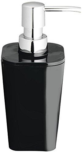 Wenko, Dispenser di Sapone Liquido, Nero (Schwarz)
