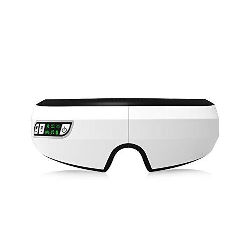 Xingx Massaggiatore Oculare con Calore, Massaggiatore Oculare senza fili, Compressione Aria Bluetooth Musica Ricaricabile Massaggiatore Oculare per Alleviare la tensione degli Occhi