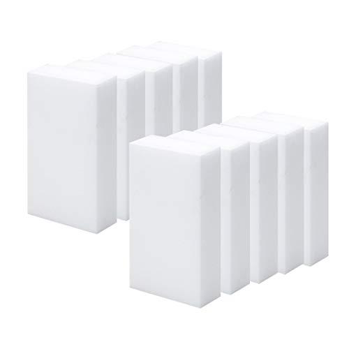 YUIO 10 spugne magiche per la pulizia in melamina schiuma Eraser Smacchiatore Smacchiatore Multi-funzionale Nano spugna ecologica (bianco)