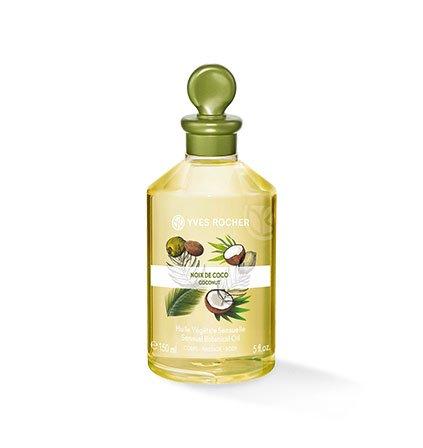 Yves Rocher LES PLAISIRS NATURE - Olio vegetale per il corpo e il massaggio al cocco, 1 flacone da 150 ml