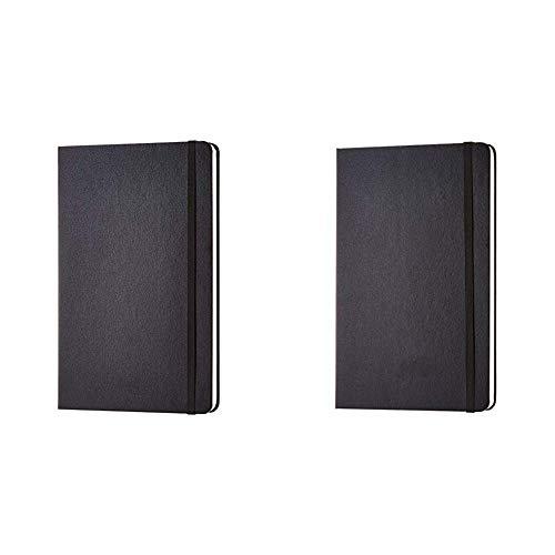 AmazonBasics - Taccuino classico, misura grande, a quadretti & - Taccuino classico, misura grande, pagine bianche
